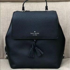 Hayes medium backpack black Kate spade NWT